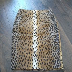 Michael Kors leopard print pencil skirt, size 2